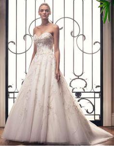 Casablanca A-linie Preiswerte Schönste Brautkleider- Style 2212