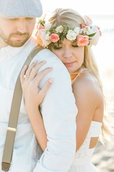 What do you get when you combine a beautiful beach with a horse, floral crowns, teepee, and two newly engaged lovebirds? One ridiculously creative engagement session. Shot by Jasmine Lee, this shoot has me awestruck with the level of creativity and Beach Wedding Photos, Beach Wedding Photography, Bridal Pictures, Wedding Photography Inspiration, Wedding Poses, Wedding Shoot, Wedding Inspiration, Wedding Ideas, Wedding Details