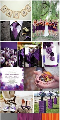 Acai Purple Wedding, inspiration board by The Simplifiers | Austin