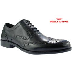 Red Tape FEALE Mens Leather Lace Up Classic Brogue Wingtip Evening Formal  Shoes