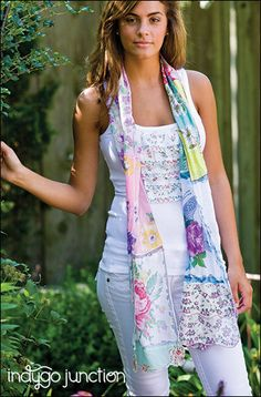 Recycled Hankie Scarves ePattern by indygojunction on Etsy