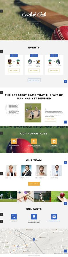 Cricket Club Joomla Template CMS & Blog Templates, Joomla Templates, Sports, Outdoors & Travel, Sport Templates, More Sports, Cricket Templates