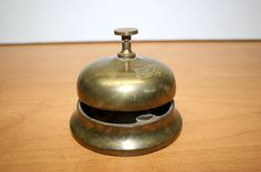 Brass Hotel Bell Hop Bell//Counter Top by TresorsJeAmour on Etsy