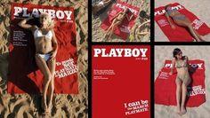 playboy cover towel (insert sunbathing self)