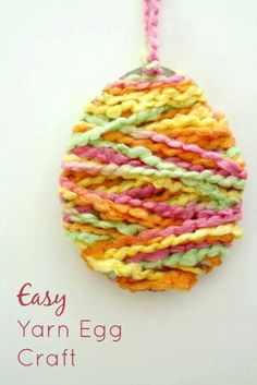 Craft ideas for nursing home patients craft bunny and easter easter easy yarn egg craft for easterfun and easy for kids to make great for easter parties class activities and large group gatherings negle Gallery