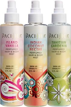Smelling Pretty Courtesy Pacifica Hair & Body Mists Reduced Body Hair in of Study Participants After About 2 months! Natural Hair Care, Natural Hair Styles, Pacifica Beauty, Pacifica Makeup, Pacifica Perfume, Gardenia Perfume, Hair Mist, Body Mist, Vegan Beauty