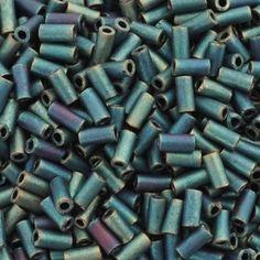 Seed Beads-3mm Bugle-2008 Matte Patina Iris-Miyuki-15 Grams
