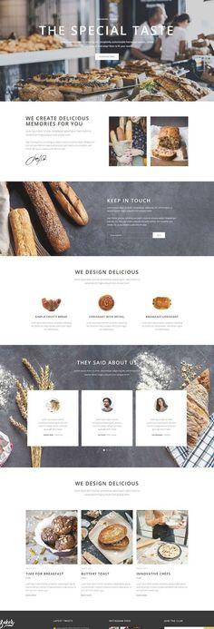 Bakery Website, Restaurant Website Design, Food Website, Page Layout Design, Website Design Layout, Homepage Design, Food Web Design, Bakery Design, Email Design Inspiration
