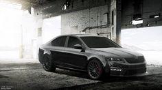 Black Skoda Octavia RS HD Wallpapers