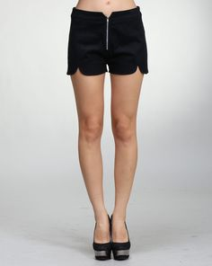 Amy says: These shorts are perfect with the large scallops and high waist cut making them a perfect fit for most body types. Very figure flattering. The zipper also makes a perfect accessory. Scallops, Be Perfect, Body Types, High Waist, Amy, Casual Shorts, Zipper, Fitness, Pants