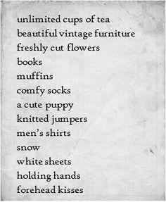Things I love...