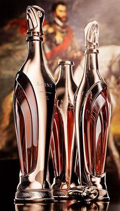 Luxury cognac concept bottle Saint is inspired by the gothic architecture, parti. Luxury cognac co Alcohol Bottles, Liquor Bottles, Glass Bottles, Drink Bottles, Perfume Bottles, Bebidas Jack Daniels, Cigars And Whiskey, Scotch Whiskey, Bottle Packaging