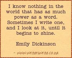 Learn more about Emily Dickinson here ~~~ Writers Write offers the best writing courses in South Africa. If you want to learn how to write a book, write for social media, and improve. Writer Quotes, Literary Quotes, Book Quotes, Quotes Quotes, Writing Advice, Writing A Book, Writing Prompts, Writing Courses, Writing Motivation