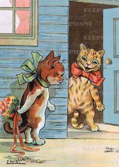 Cats Dressed Animals Flowers Illustrator: Louis Wain Imprint: Laughing Elephant Love & Romance'