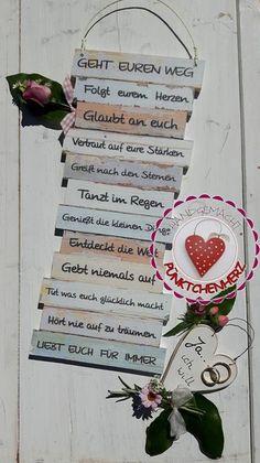Wanddeko - Dekotafel - GEHT EUREN WEG - Hochzeit Ja ich will - ein Designerstück von Puenktchenherz bei DaWanda