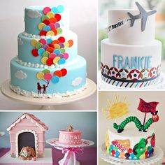 33 Unique Birthday Cakes For Baby and Toddler. love the balloon one could be for an UP party