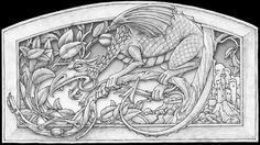 Free Relief Carving Patterns | Whimsical Wood: Pyrography Tutorial 'Young Dragon Hiding'