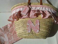 "Con P de P: ""CESTA"" Basket Crafts, Pink Summer, New Bag, Straw Bag, Kos, Diy And Crafts, Reusable Tote Bags, Beach, Fashion"