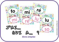 J'ai qui a sons simples Teaching Kindergarten, Preschool Learning, School Resources, Teacher Resources, Alpha Phonics, Letter Blends, Educational Assistant, French Education, French Classroom