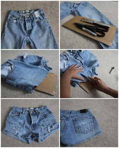 A LITTLE BIT OF LACQUER: DIY Distressed Shorts