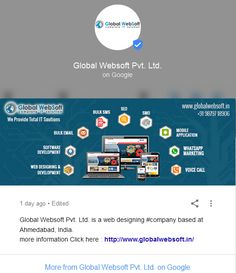 http://www.globlewebtechnology.com/ For #Website #Promotion, #Google Promotion, #Ecommerce Website, Website #Design, #SEO/#SMO, #Online #Marketing, #Voice #Call, #WhatsApp Marketing, #Bulk #SMS, Website Design & #Development,  Bulk #Email in #Ahmedabad, #Gujarat, #India