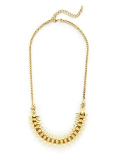Gold & Crystal Spike Necklace by Leslie Danzis on Gilt.com