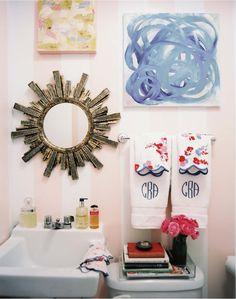 tiny bathroom via Lonny