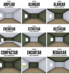 Dicas úteis! Como a pintura pode mudar um ambiente! ✏️ . . . . . . . . #arquitetura #arquiteturadeinteriores #projetodeinteriores…