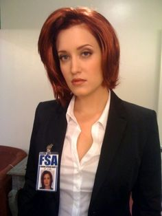 The adult film stars Kimberly Kane as Dana Scully on The Sex-Files: A Dark XXX Parody.