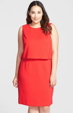 Eliza J Crepe Popover Dress (Plus Size) available at #Nordstrom