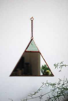 Triangle mirror - Atelier Stella Available here…