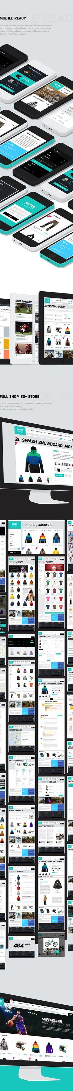 Web design / SUPER DUPER on Behance
