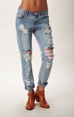 Boyfriend jeans are a must...PARADISE AWESOME BAGGIES