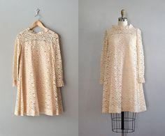 lace dress / 1960s lace dress / 60s wedding / Sugar by DearGolden