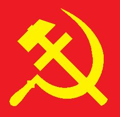Hammer and Sickle which was the symbol of Communism in Russia.