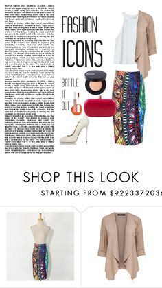 """Fashion 101: Patterned Pencil Skirt"" by josehline ❤ liked on Polyvore featuring Dsquared2"