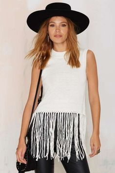 Strings Attached Fringe Top | Shop Clothes at Nasty Gal!