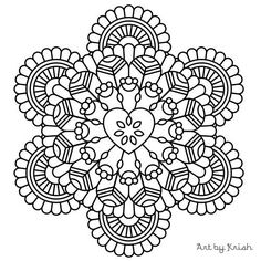 120 Printable Intricate Mandala Coloring Pages Instant Download PDF Doodling Page