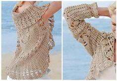 Crochet Sweaters: Crochet Cardigan For Women - Circular Cardigan