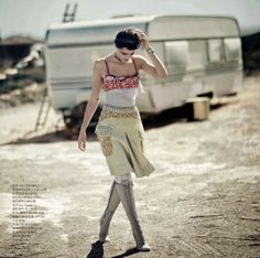 """Desert Song"" Isabeli Fontana by Boo George for Vogue China April 2014"