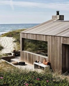 Mackenzie Brown – Summer Cottage sqm), Skagen, Denmark by… - Strandhaus House In The Woods, My House, Future House, Design Exterior, Timber Cladding, Scandinavian Home, Modern Architecture, Building A House, House Design