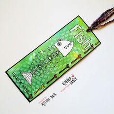 * Rubber Dance Blog *: Tutorial Tuesday, quirky bookmark with video tutorial #rubberdance #rubberdancestamps #greetingcard #cardmaking #card