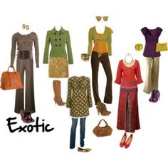 Exotic - Warm, Toasted (muted with brown), Deep (cool equivalent is Elegant)