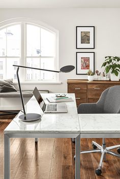 modern desk Conference Room Chairs Custom Desk Tufted Bench Modern Home Offices & 121 best Modern Home Office images on Pinterest in 2018 ...