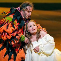 San Francisco Opera opens 90th season with Rigoletto. Marco Vratogna (Rigoletto) and Albina Shagimuratova (Gilda) © Cory Weaver #Opera #SanFranciscoOpera #Rigoletto