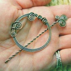 Copper Shawl Pin - Harmony Spirals. $40.00, via Etsy. j'adore, c'est la zénitude en bijoux