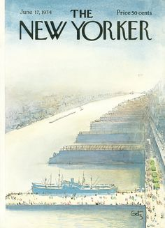 The New Yorker - Monday, June 17, 1974 - Issue # 2574 - Vol. 50 - N° 17 - Cover by : Arthur Getz
