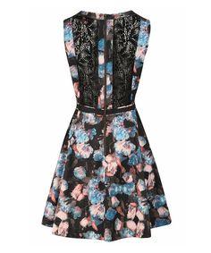 Louche Blue & Pink Floral Ivette Dress