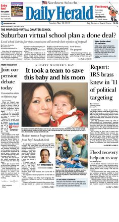Daily Herald front page, May 12, 2013; browse our e-edition at eedition.dailyherald.com