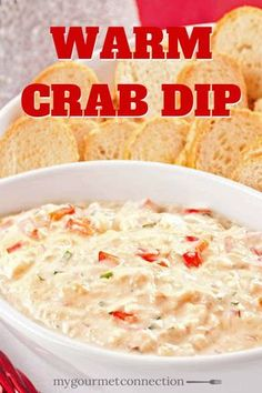This simple recipe combines lump crab meat, cream cheese, sour cream, red bell pepper and shallot to make a rich, creamy dip to serve with crackers or toasted slices of baguette. Lump Crab Meat Recipes, Crab Dip Recipes, Seafood Recipes, Cooking Recipes, Milk Recipes, Cooking Tips, Easy Recipes, Keto Recipes, Appetizers
